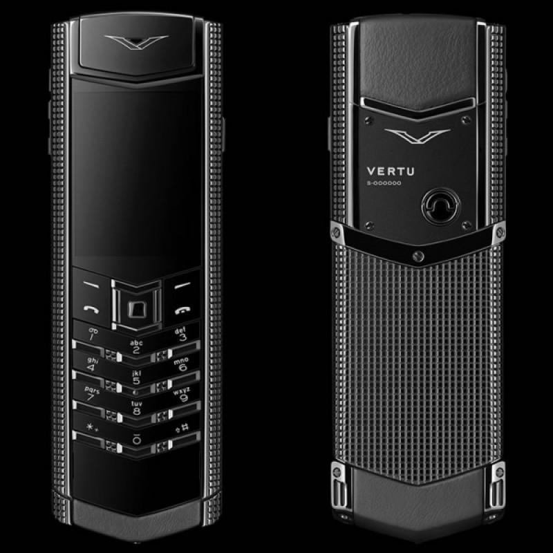 Vertu Signature S Design Clous de Paris Pure Black