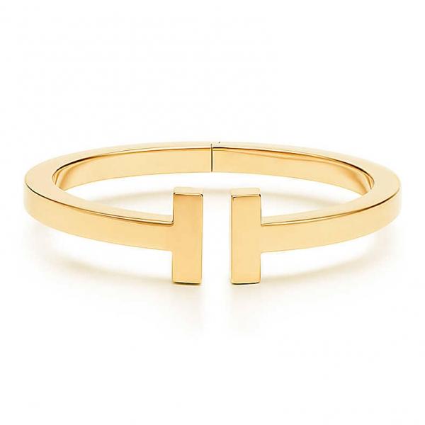 Браслет Tiffany T Square, желтое золото (33636121)