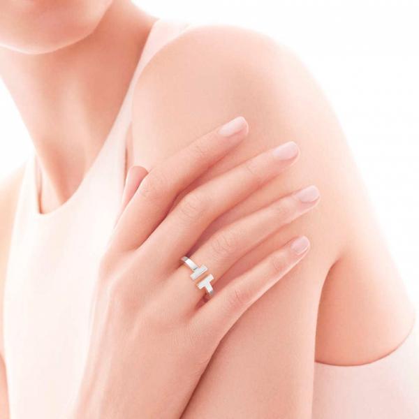 Кольцо Tiffany T Square, стерлинговое серебро (33429746)