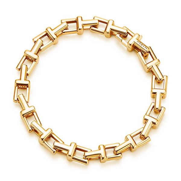 Браслет Tiffany T Chain, желтое золото (33278705)