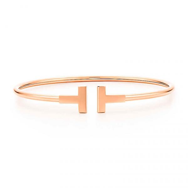 Браслет Tiffany T Wire, розовое золото (33263465)