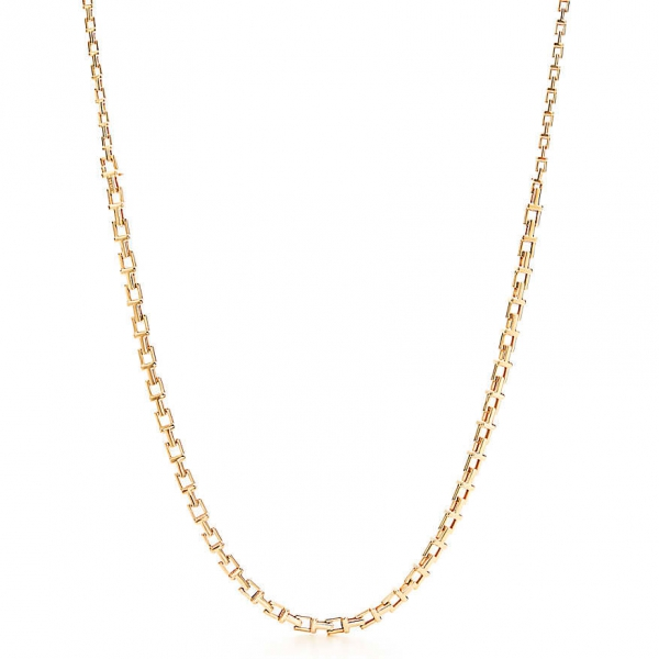 Ожерелье Tiffany T Chain, желтое золото (33279051)