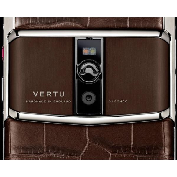 Vertu Signature Touch Cocoa Alligator