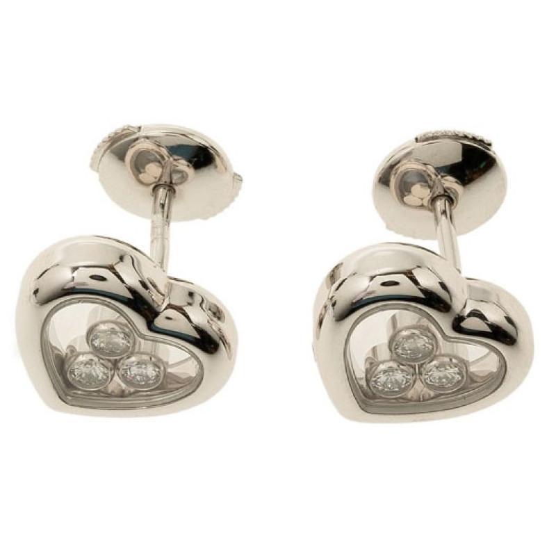 Серьги Chopard Happy Diamond Icon, белое золото, бриллианты