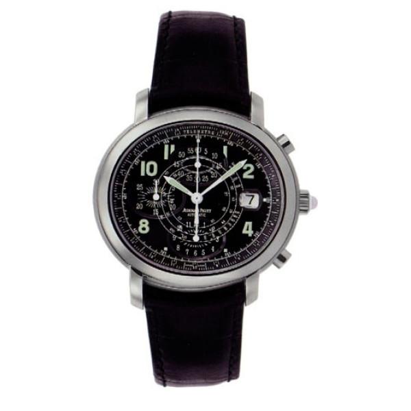 Audemars Piguet watches Millenary Chronograph (Steel / Black / Leather)