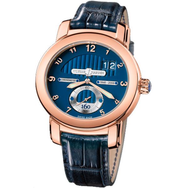 Ulysse Nardin watches Anniversary 160 (RG / Blue / Leather)