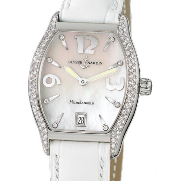 Ulysse Nardin watches Michelangelo Midsize (SS / MOP / Diamonds / Leather)