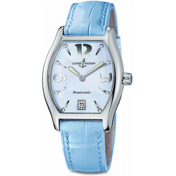 Ulysse Nardin watches Michelangelo Midsize (SS / Blue / Leather)