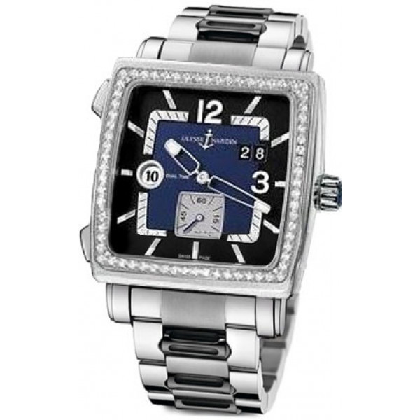 Ulysse Nardin watches Quadrato Dual Time Stainless Steel