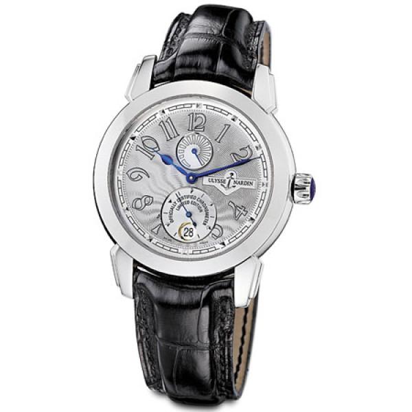 Ulysse Nardin watches Ulysse 1 (Platinum / Silver / Leather)