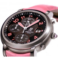 Audemars Piguet watches Millenary Ladies Chronograph (SS / Black / Pink Leather)
