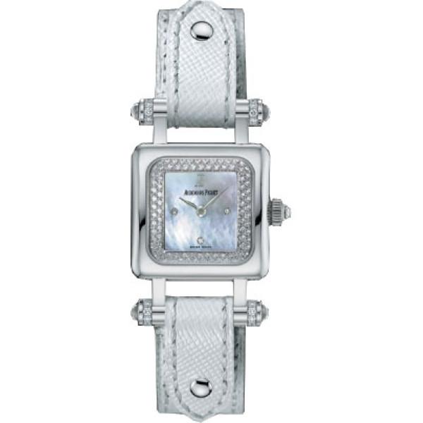 Audemars Piguet watches Deva (WG / MOP-Diamonds / White Leather)