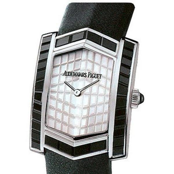 Audemars Piguet watches Facettes (WG-Black Sapphires / MOP / Black Strap)