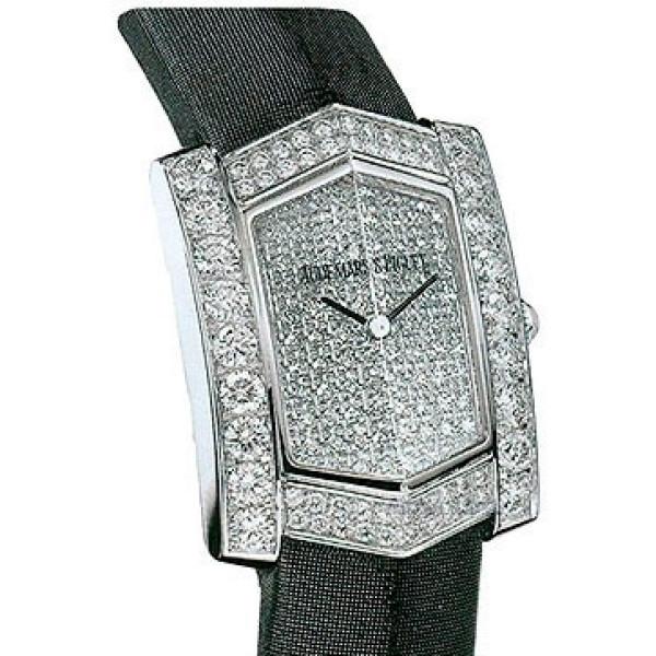 Audemars Piguet watches Facettes (WG-Diamonds / Diamonds / Black Strap)