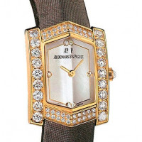 Audemars Piguet watches Facettes (YG-Diamonds / MOP / Brown Strap)