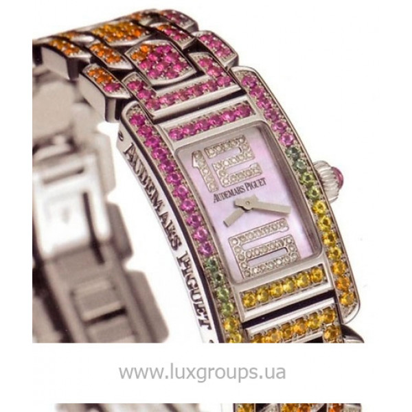 Audemars Piguet watches Promesse (WG-Rainbow Gemstones / MOP-Diamonds)