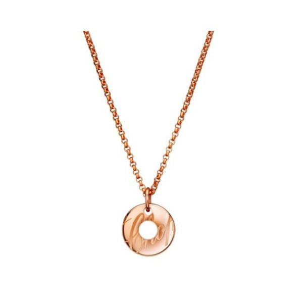 Chopard Chopardissimo 18K Rose Gold Circular Pendant Necklace