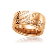 Chopard Chopardissimo 18K Rose Gold Diamond Revolving Signature Ring