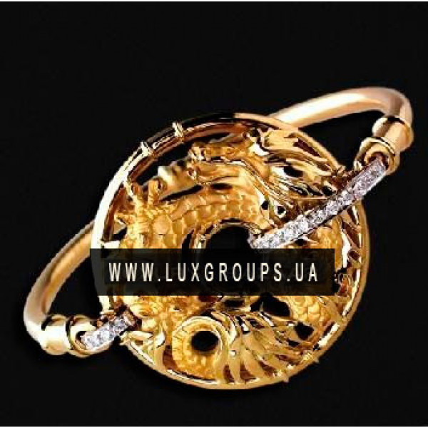 Браслет Carrera y Carrera Circulos De Fuego 18K Yellow and White Gold Shanghai Bracelet with Diamonds