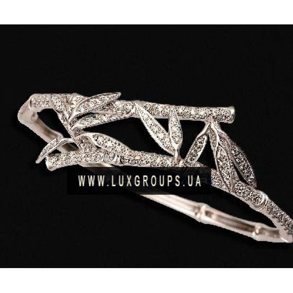 Браслет Carrera y Carrera Bambu 18K White Gold Bracelet with Diamonds