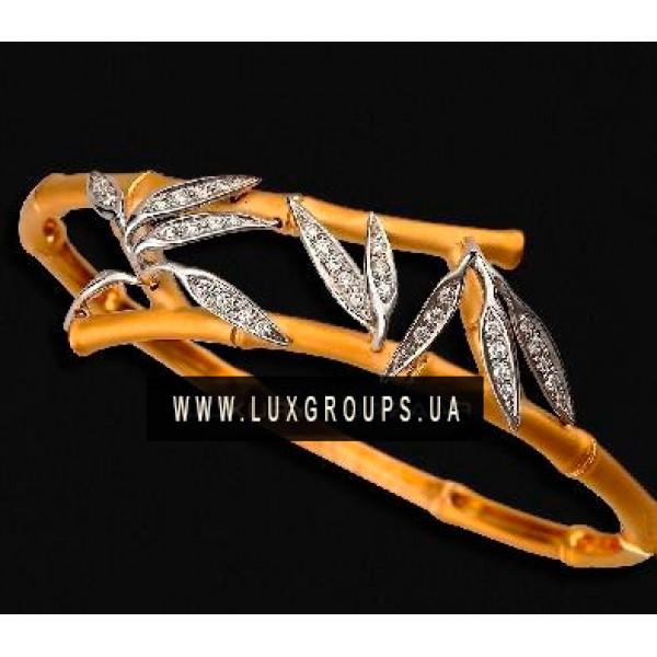 Браслет Carrera y Carrera Bambu 18K Yellow and White Gold Bracelet with Diamonds