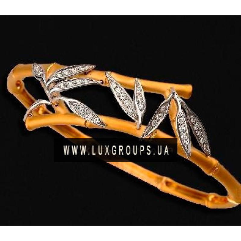 Браслет Carrera y Carrera Bambu 18K Yellow and White Gold Bracelet with Diamonds