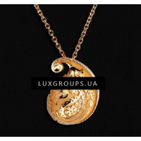 Подвеска Carrera y Carrera Aqua Mini 18K Yellow Gold Necklace