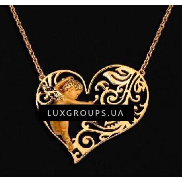 Колье Carrera y Carrera Baby Angel 18K Yellow Gold Heart Necklace