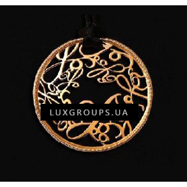Подвеска Carrera y Carrera Y 18K Yellow Gold Round Pendant with Black Silk Cord