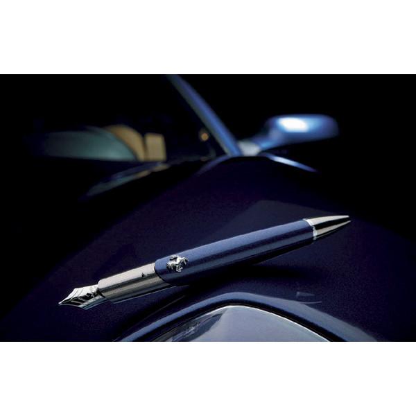 Автоматическая ручка Ferrari FB Series Silver Lacquer Blue Fountain Pen