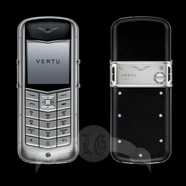 Vertu Constellation Матовая сталь, чёрная кожа