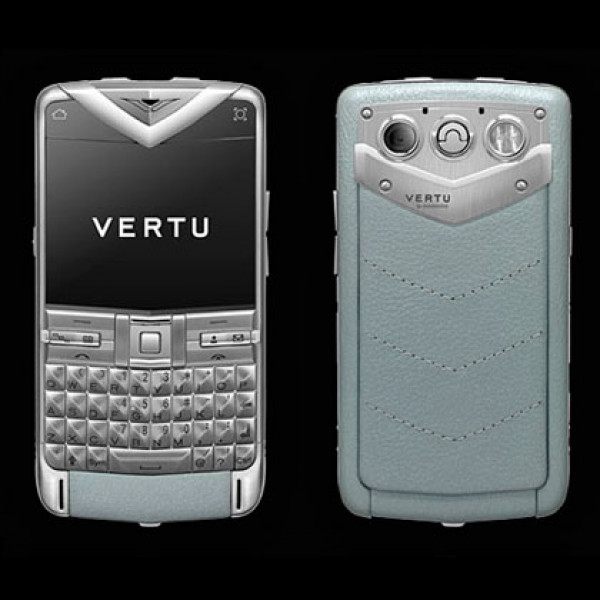 Vertu Constellation Quest brushed stainless steel, silver leather