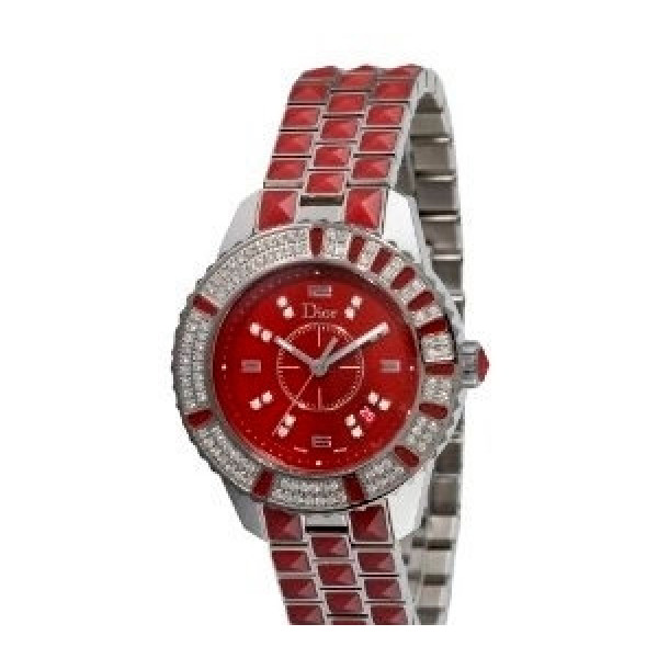 Christal Diamond Red Dial