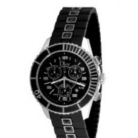 Christal Chronograph Diamond Black Dial