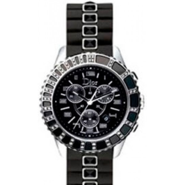 Dior Crystal Choronograph Diamond Unisex Watch