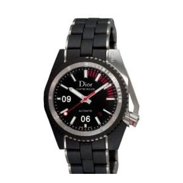 Chiffre Rouge Diving Steel Black Dial