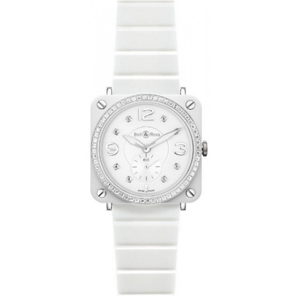 Bell & Ross watches BR-S White Ceramic Phantom & Diamonds