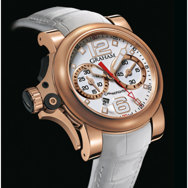 Chronofighter R.A.C Trigger red gold, White Rush