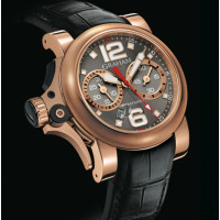 Chronofighter R.A.C Trigger red gold, Charcoal Rush