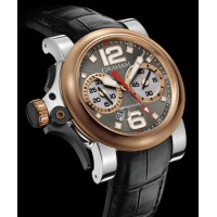 Chronofighter R.A.C Trigger, stainless steel and red gold, Charcoal Rush