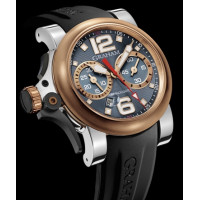 Chronofighter R.A.C Trigger, stainless steel and red gold, Ice Rush