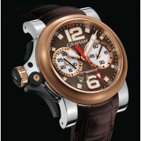 Chronofighter R.A.C Trigger, stainless steel and red gold, Havana Rush