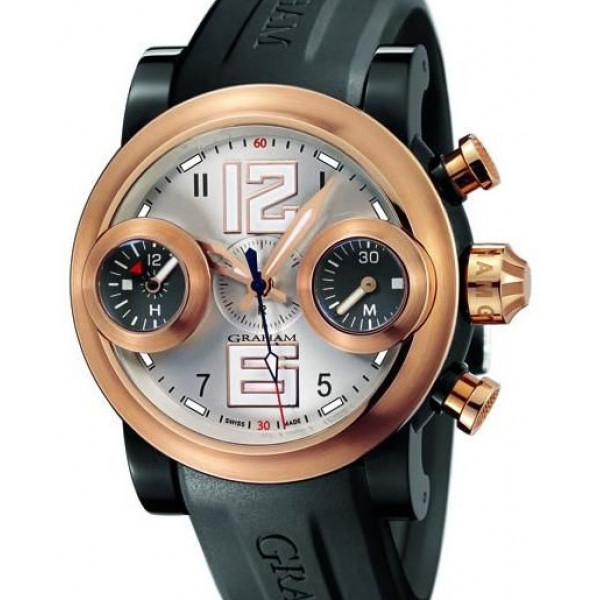 Swordfish Big 12/6 Black PVD and red gold, silver dial