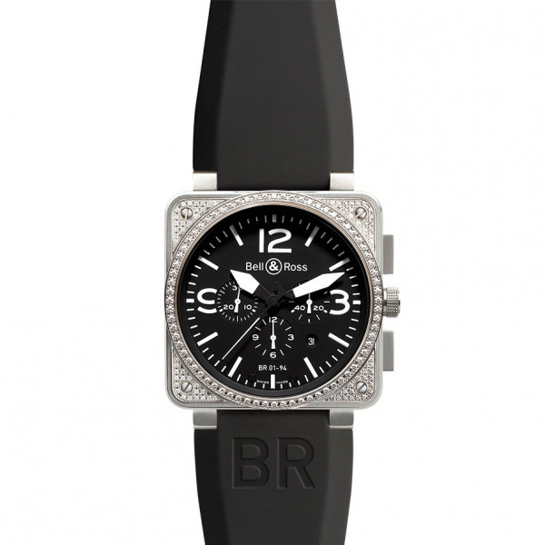 Bell & Ross watches BR 01-94 TOP DIAMOND BLACK DIAL