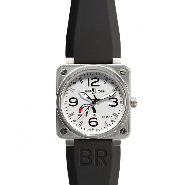 Bell & Ross watches BR 01-97 POWER RESERVE WHITE DIAL
