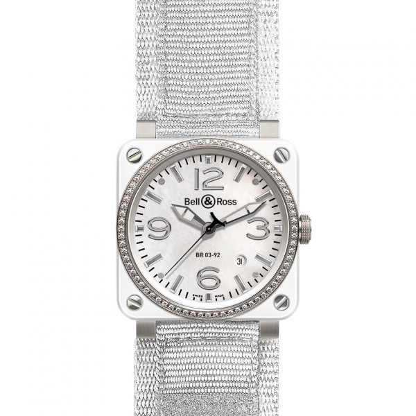 Bell & Ross watches BR 03-92 WHITE CERAMIC & DIAMOND