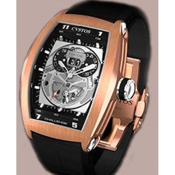 Cvstos Challenge Twin-Time Red Gold