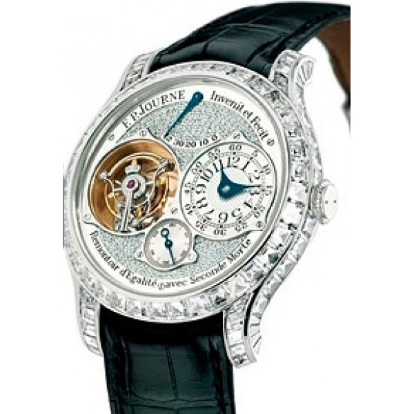F.P.Journe Tourbillon Souverain Diamonds (WG / Leather)