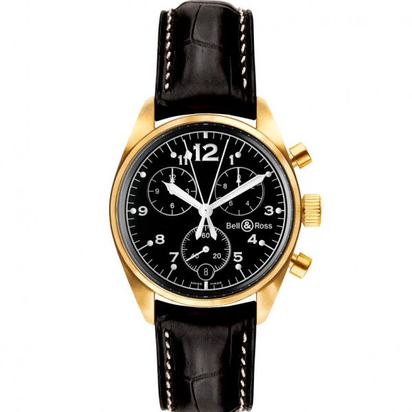 Bell & Ross watches VINTAGE 120 GOLD BLACK