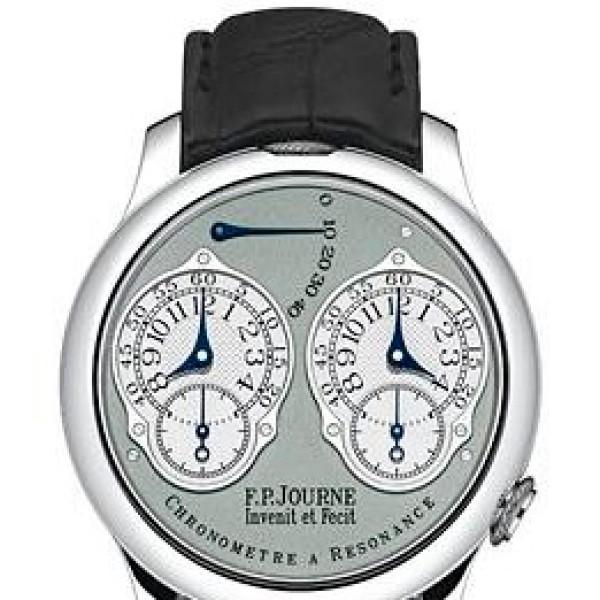 F.P.Journe Chronometre a Resonance (Pt / Grey / Leather)